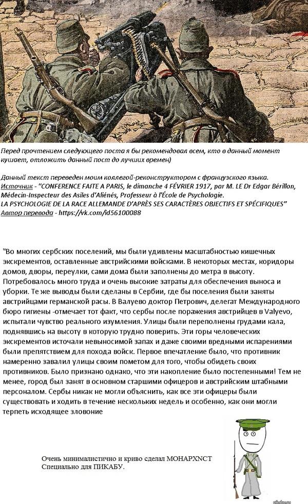 Пару слов об австрийских оккупантах сербской земли.