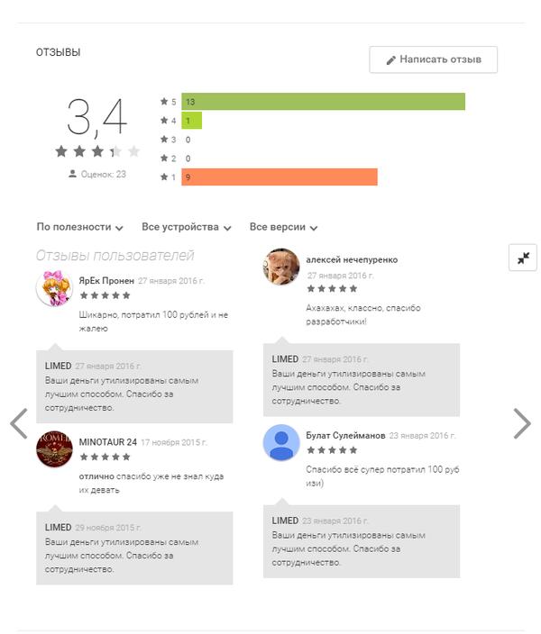 Решение еще одной проблемы Google Play, Сто рублей, Деньги, Бизнес-Идея, Длиннопост, Игры, Комментарии