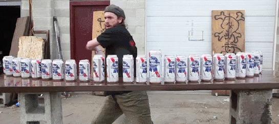 За что так с пивом? Пиво, Самурай, Меч, Пополам, Гифка