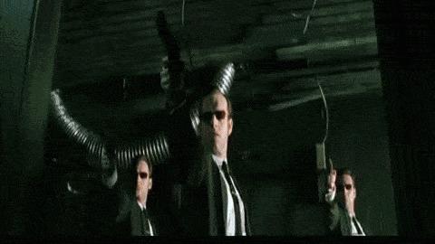 Wake up, Neo. Wake up... Матрица, Морфеус, Нео, Гифка