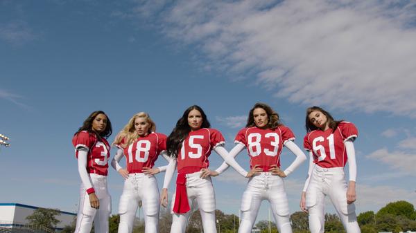 Victorias Secret SuperBowl 2016 Promo Девушки, Футбол, Модели, Длиннопост