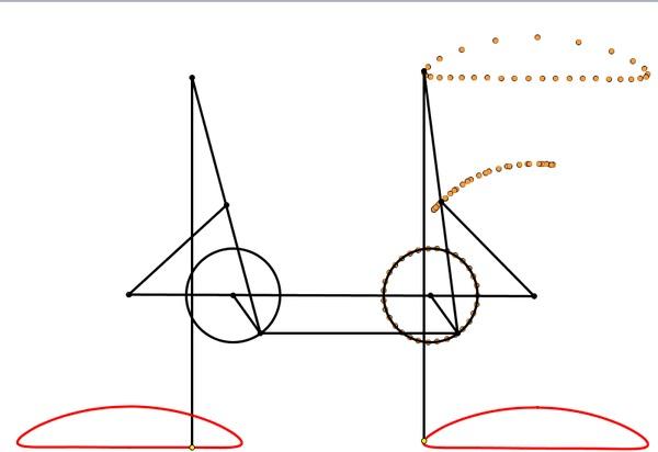 Стопоходящая машина Чебышева Интересное, Механизм, Гифка