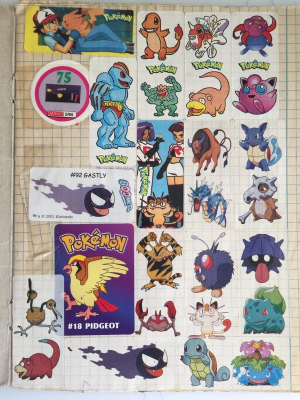 Нашел свою детскую тетрадку по покемонам. У многих была подобная.) Покемоны, Моё, Наклейка, Тетрадь, Детство, Длиннопост