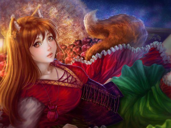 «Волчица и пряности» — юбилей. Волчица и пряности, Юбилей, Аниме, Anime Art, Horo, Holo