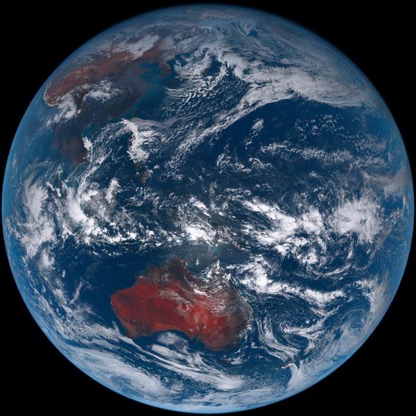 Вид на землю со спутника Himawari 8 Himawari 8, Giffany, Земля, Гифка