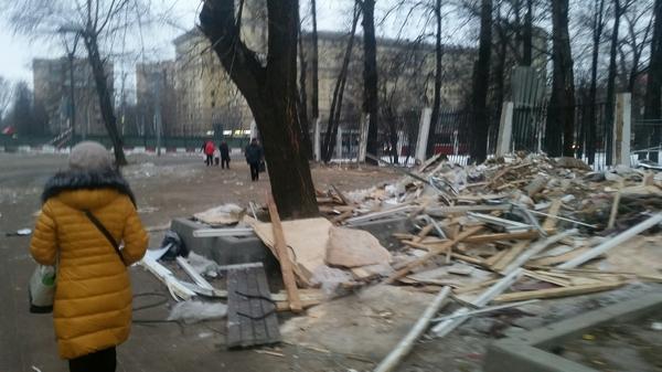 Попил кофейку Войковская, Снос, Палатка