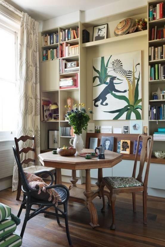Книжные полки в интерьере: стильные идеи хранения.