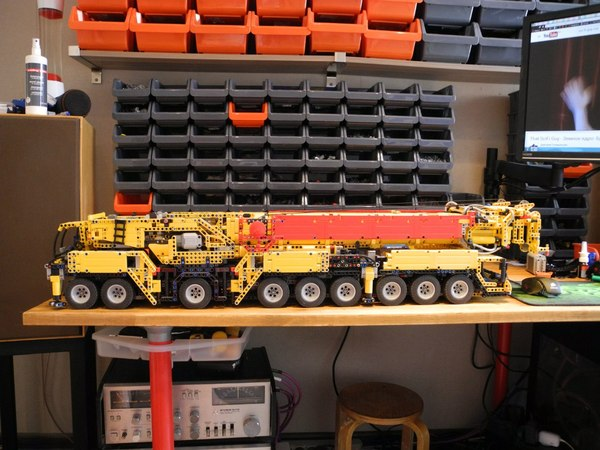 Lego Liebherr LTM 1750 (самоделка) Lego, Техника, Lego technic, Самоделки, Лего, Liebherr, Я у мамы инженер, Длиннопост