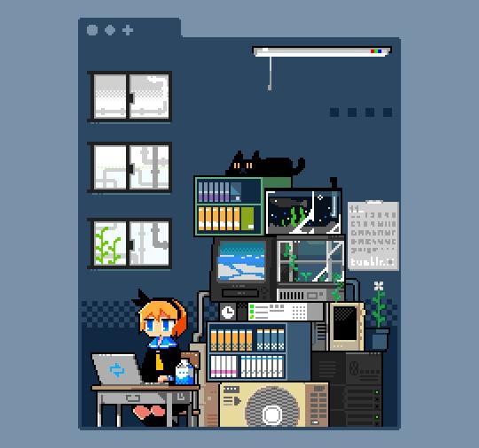 Pixel & Digital Art #5 by RayNoa Pixel art, Цифровой рисунок, Творчество, Пиксель, Художник, Длиннопост, Гифка