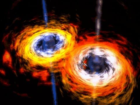 Гравитационные волны. Инструкция по применению Физика, Наука, Техника, Космос, Гравитация, Ото, Теория относительности, Длиннопост, Гифка