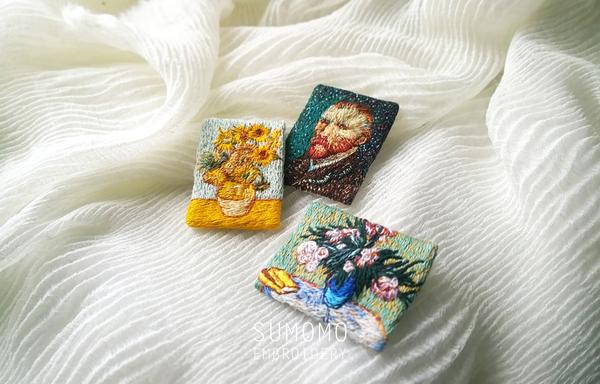 Картина со спичку или Ван Гог в цифрах вышивка гладью, длиннопост, миниатюра, ван гог, пейзаж, artflection, творчество