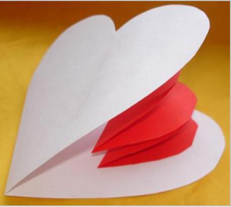 открытка из бумаги сердечко