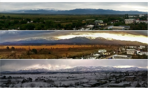 Вид из окна моего дома Лето, Осень, Зима
