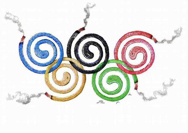 """""""Кольца"""" летних олимпийских игр 2016 в Рио-де-Жанейро"""