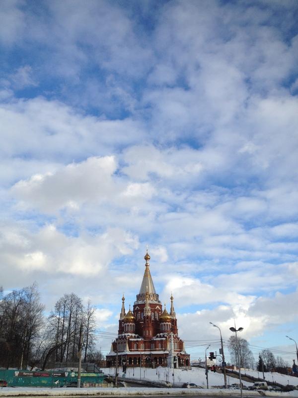 Ясный день в Ижевске