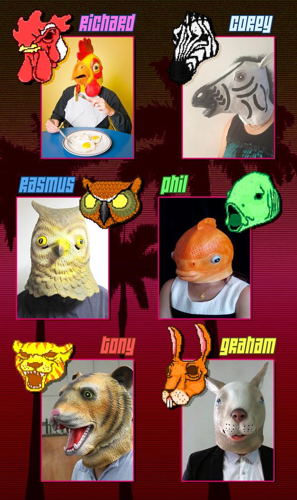 """Китайские маски """"Горячей линии Майами"""": Стильно, модно, молодёжно."""