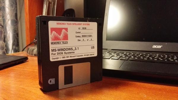 Почти раритетные дискеты Интересное, Windows, Дискета, Старье, Длиннопост