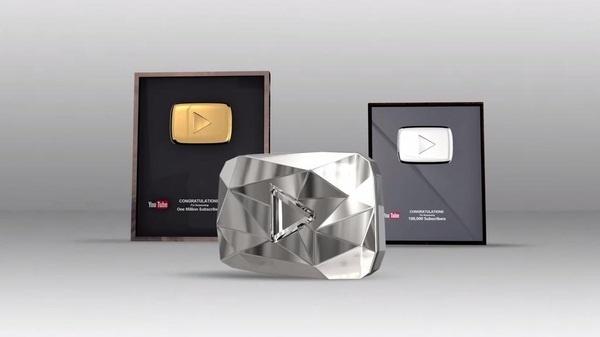 Бриллиантовая кнопка YouTube Ты, Награда, Youtube, Интересное