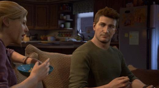 Когда прошлое не дает покоя Uncharted 4, Playstation 4, Дрейк, Мыло в прошлом, Гифка
