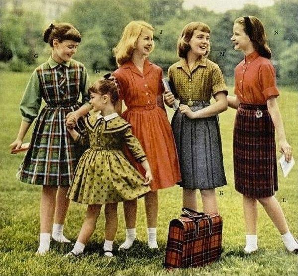 Детская мода 60-х годов.