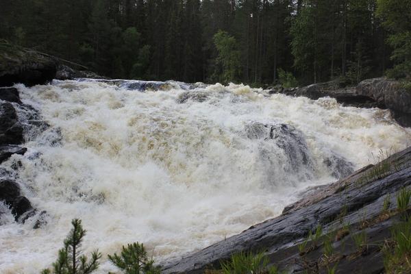 Водопад Куми (Кумо-порог). Карелия.