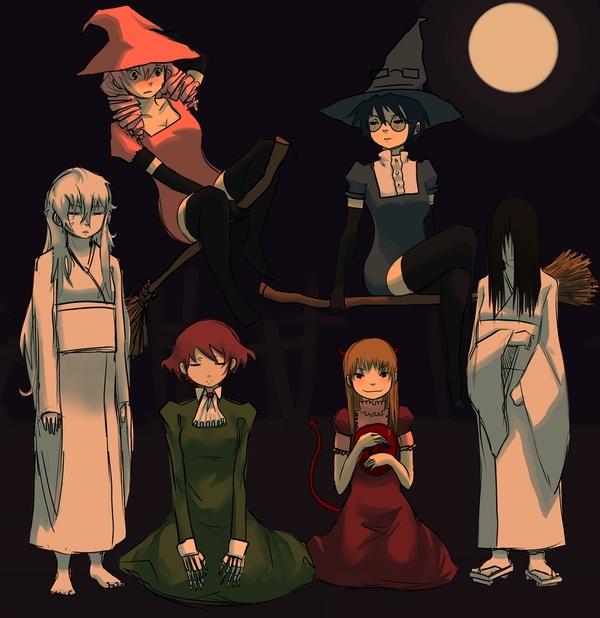 Katawa+Touhou & Katawa+Halloween Аниме, Визуальная новелла, Katawa Shoujo, Touhou, Длиннопост