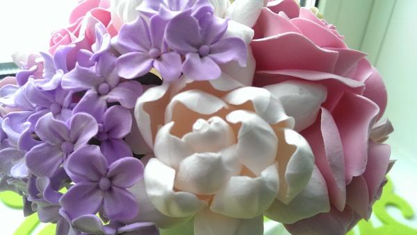 Вот ещё один букет из полимерной глины готов Букет, Полимерная глина, Цветы, Полимерная флористика, Красота, Длиннопост