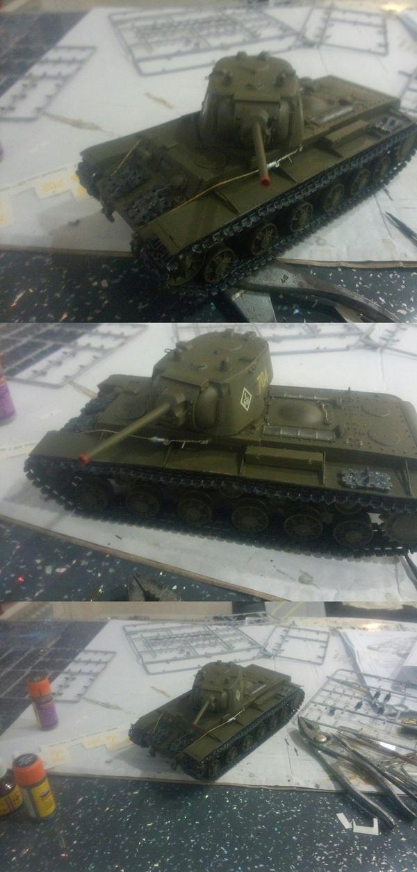 Моя первая модель, подарок жены - доволен как ребенок Танки, Модели, Моделизм, СССР