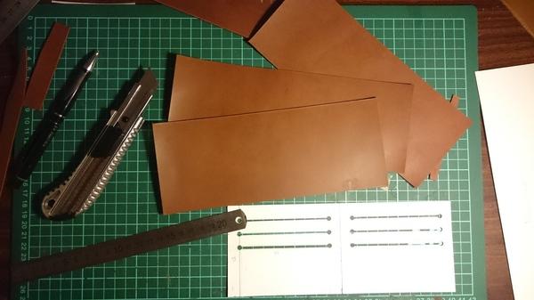Делаем кожаный бумажник своими руками. Часть 1. кожа, ручная работа, длиннопост, кошелек, бумажник, рукоделие, изделия из кожи