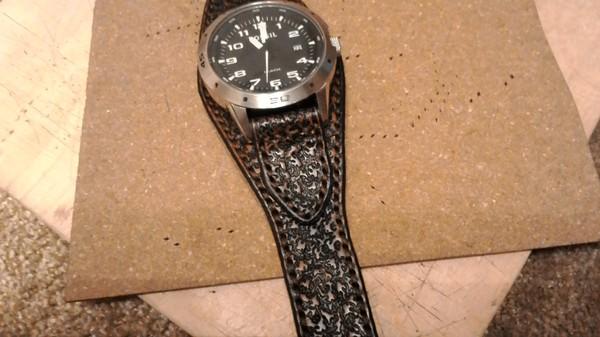 Делаем ремешок для наручных часов своими руками изделия из кожи, ремешок, ремешок для часов, своими руками, кожа, кожаное изделие, рукоделие, handmade, длиннопост