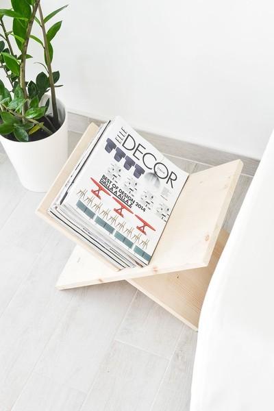 Подставка для журналов и книг своими руками - для тех, у кого они валяются по всему дому. своими руками, издерева, длиннопост, интерьер