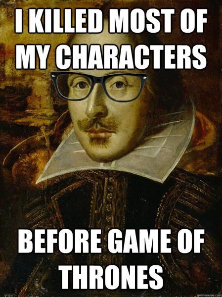 Я убил большинство персонажей еще до Игры Престолов.