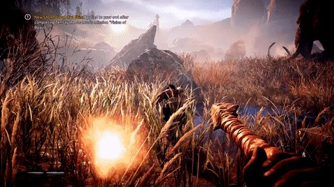 Охота в новом Far cry: Primal Far Cry, Far Cry: Primal, Игры, Гифка