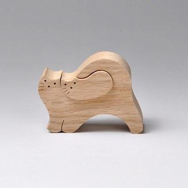 Коты из дерева фото