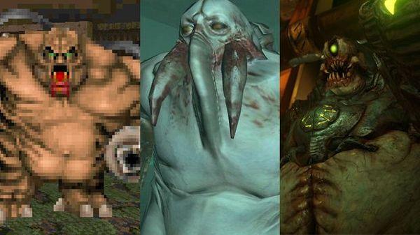 Эволюция монстров из DooM Doom, Игры, Монстр, Эволюция, Графика, Длиннопост