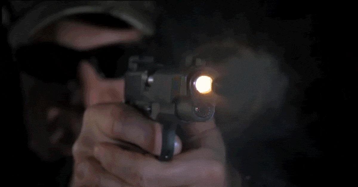 Гифка пистолет выстрел в голову, картинки смешные открытка