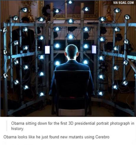 Ксавье-Обама Люди Икс, 3d-Портрет, 9gag
