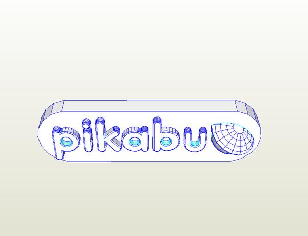 Лого Пикабу для паперкрафта Лого Пикабу, Pepakura, Papercraft, Модель, На досуг