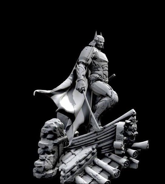"""Фигурка Бэтмана """"Knight of the rising sun""""от  XM Studios Бэтмен, Фигурка, Длиннопост"""