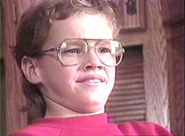 Мэтт Дэймон в возрасте 12 лет