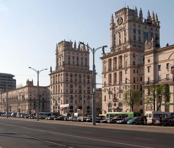 Ворота Минска: спустя 60 лет Минск, Беларусь, вокзал, Башни