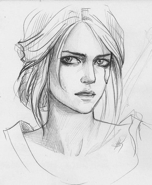 Красивые картинки карандашом картинки в полный рост девушки