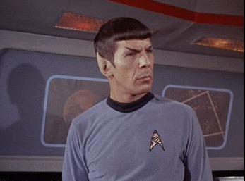 """Великая актерская игра. За что мы любим классический """"Звездный путь"""" Star Trek, Спок, Классика, Гифка, Длиннопост"""