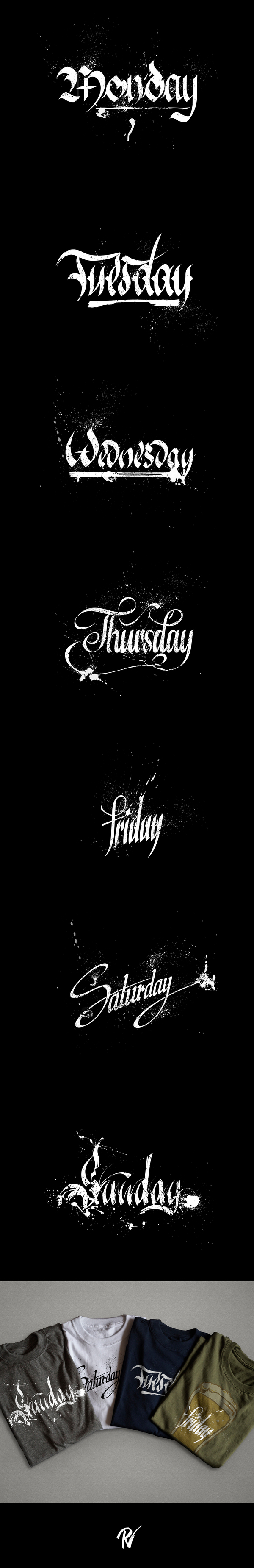 Немного пятничной каллиграфии Каллиграфия, Photoshop, Буквы, Принт, Длиннопост