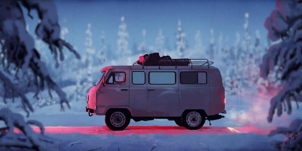 Буханка зимой. Автор Александр Бородин