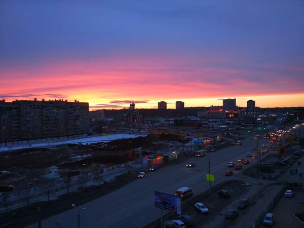 Закат в Челябинске Челябинск, Фото, Закат, Xiaomi