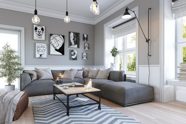 Гостиная 3ds max, Coronarender, Photoshop, Интерьер