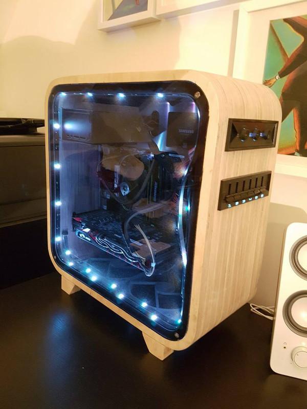 Деревянный корпус для компьютера. Корпус, Техника
