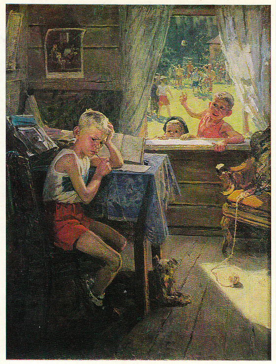 """А вы знали, что знаменитая картина """"Опять двойка"""" - это вторая часть художественной трилог Картина, Длиннопост, Федер Решетников"""