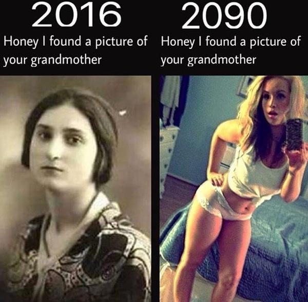 Старые бабушки на ходуноге